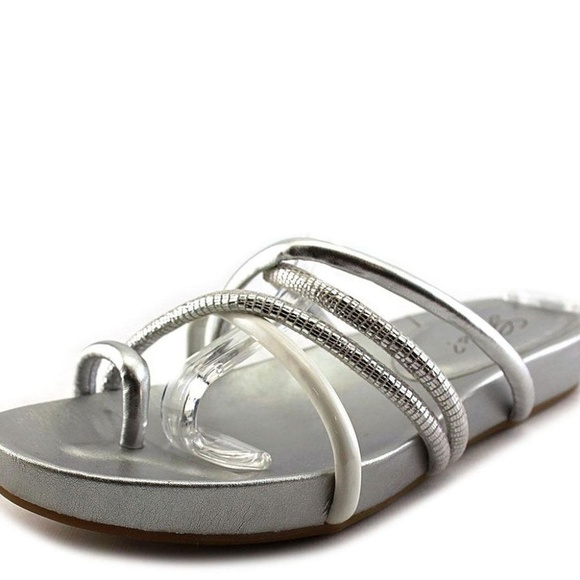 Guess Shoes - Guess Jiyana Tube Flat Footbed Sandals Silver 9M